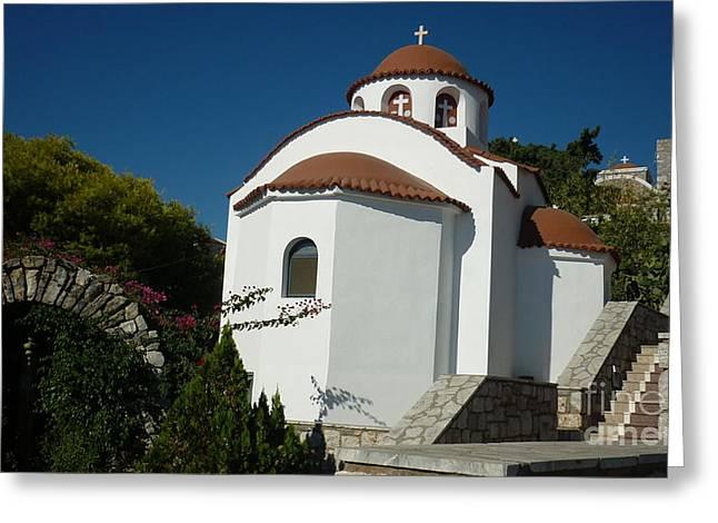 Monastery Of St Savas Greeting Card