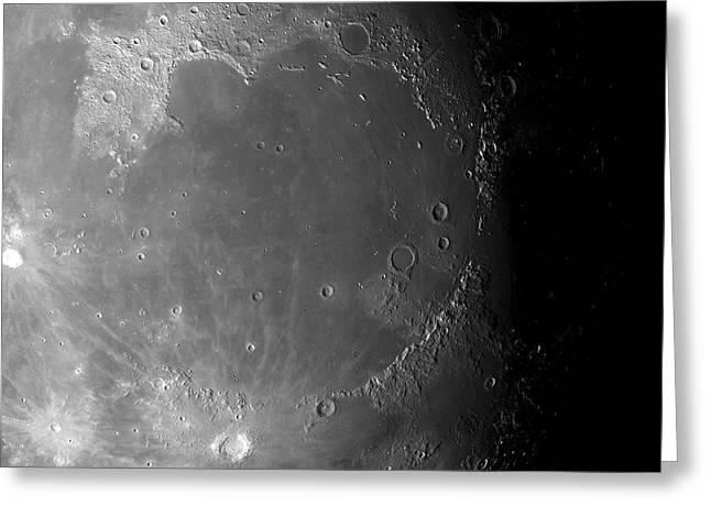 Moon's Surface Greeting Card by Detlev Van Ravenswaay