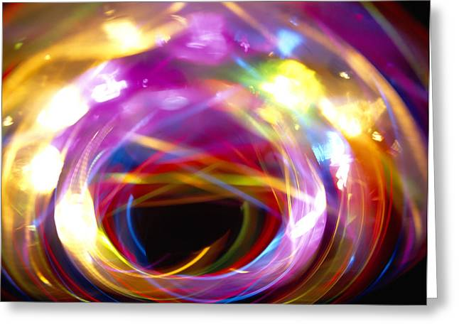 Multicoloured Lights Greeting Card