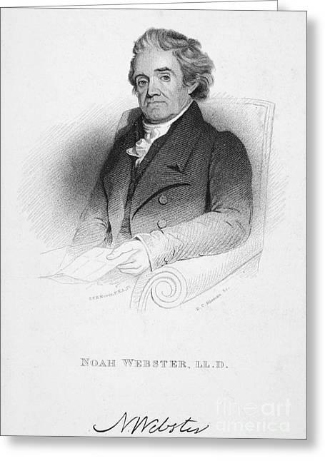 Noah Webster (1758-1843) Greeting Card by Granger