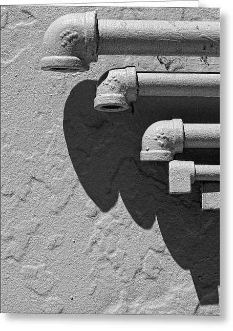 Pipes Greeting Card by Robert Ullmann