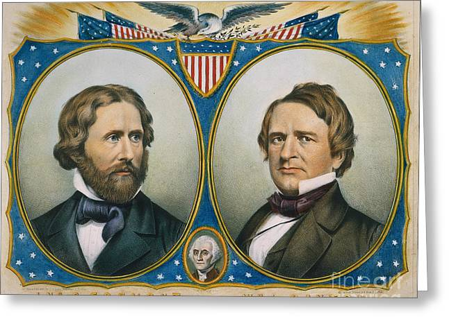 Presidential Campaign 1856 Greeting Card by Granger