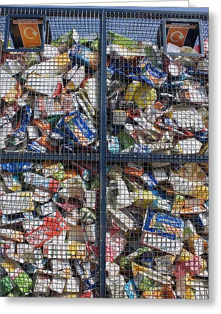 Recycling Centre Greeting Card by Mark Williamson