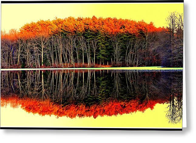 Reflections At Farrington Lake Greeting Card