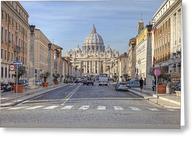 Rome - St. Peter's Basilica Greeting Card by Joana Kruse