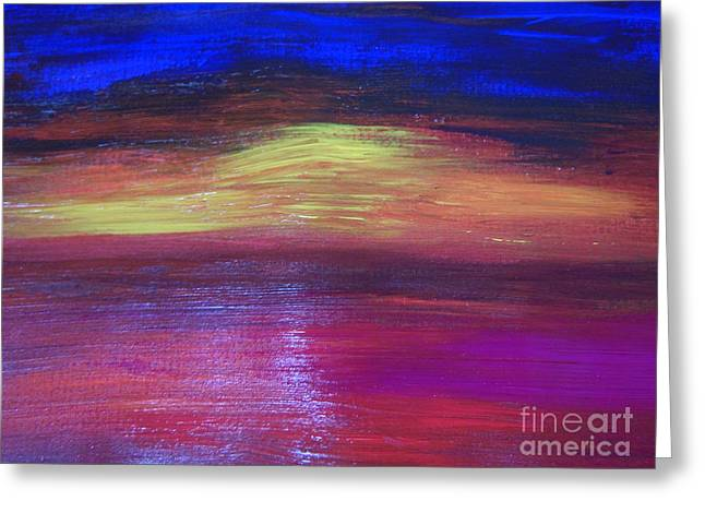 Seascape Sunset Greeting Card by Lam Lam
