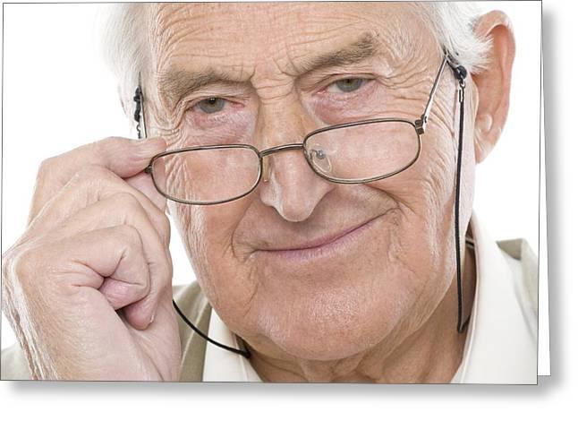 Senior Man Greeting Card