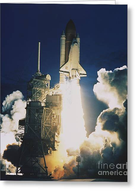 Shuttle Lift-off Greeting Card