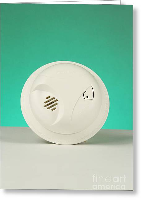 Smoke Detector Greeting Card by Photo Researchers, Inc.
