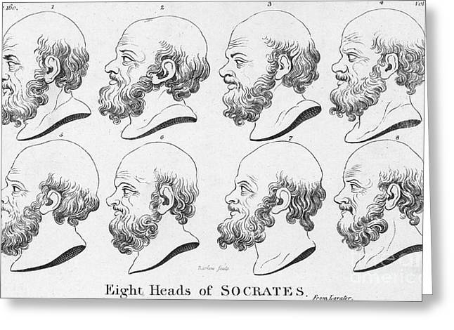 Socrates, Greek-athenian Philosopher Greeting Card by Science Source