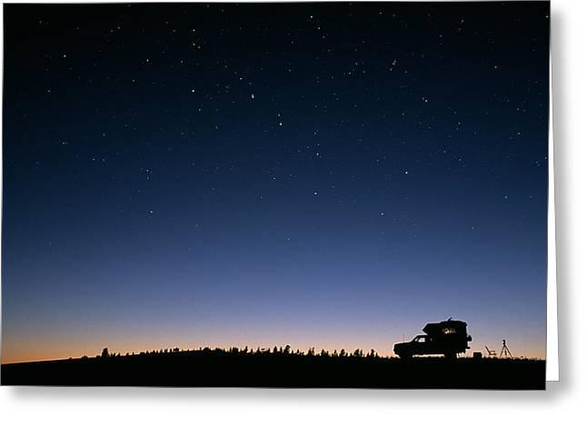 Starry Sky Greeting Card by David Nunuk