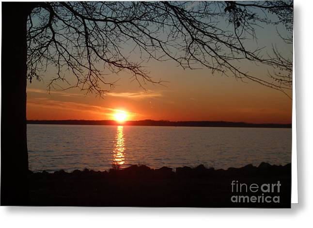 Sunset Chesapeake Bay Greeting Card by Valia Bradshaw