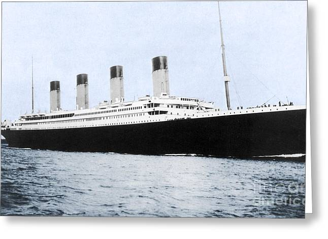 The Titanic Greeting Card by Photo Researchers