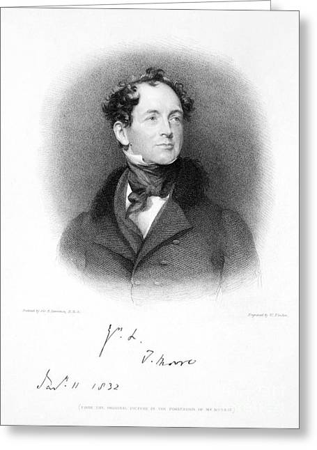 Thomas Moore (1779-1852) Greeting Card by Granger