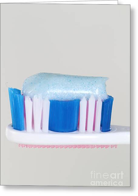 Toothpaste Greeting Card by Photo Researchers, Inc.