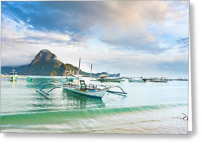 Tropical Lagoon Greeting Card by MotHaiBaPhoto Prints