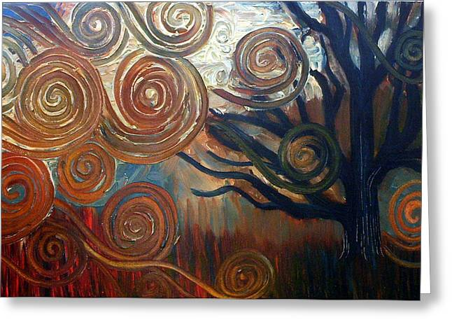 Greeting Card featuring the painting Untitled Tree by Monica Furlow