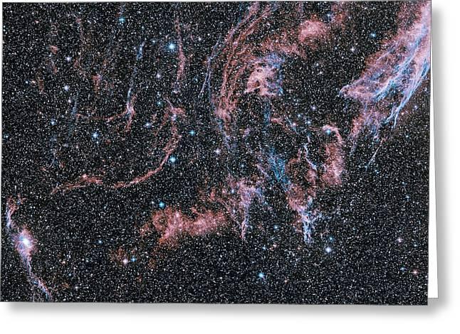 Veil Nebula Supernova Remnant Greeting Card by Davide De Martin