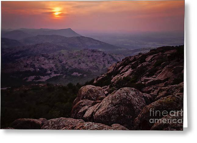 Wichita Mountains Greeting Card by Iris Greenwell