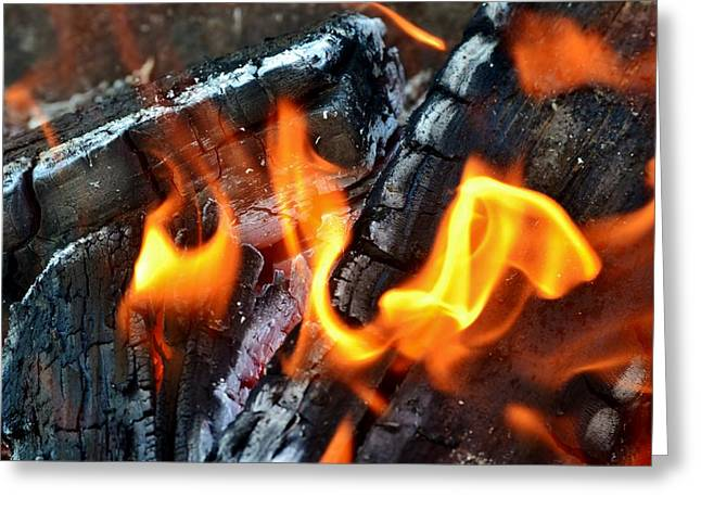 Wood Fire Greeting Card