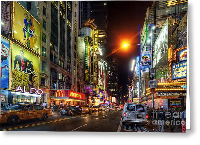 42nd Street Nyc 3.0 Greeting Card by Yhun Suarez
