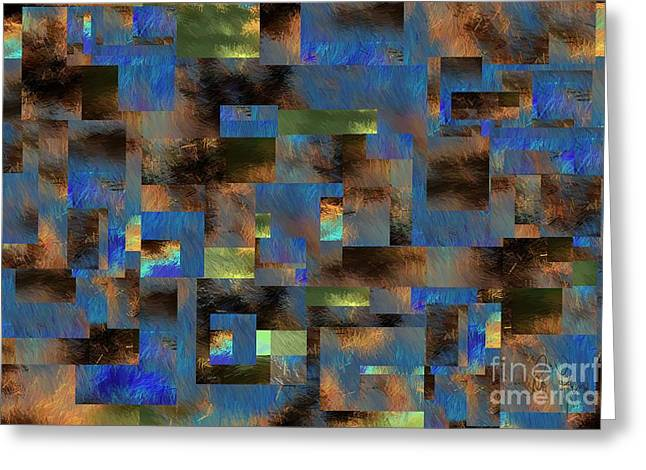 Greeting Card featuring the digital art 4312 by Leo Symon
