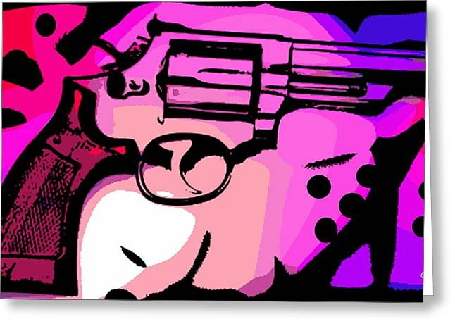 44 Magnum Greeting Card by George Pedro