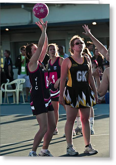 Australian Deaf Games 2012 Greeting Card by Edan Chapman