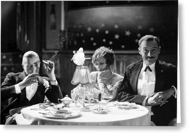 Film Still: Eating & Drinking Greeting Card by Granger