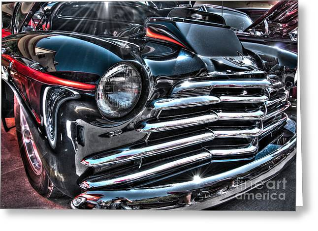 48 Chevy Convertible 2 Greeting Card by Anthony Wilkening