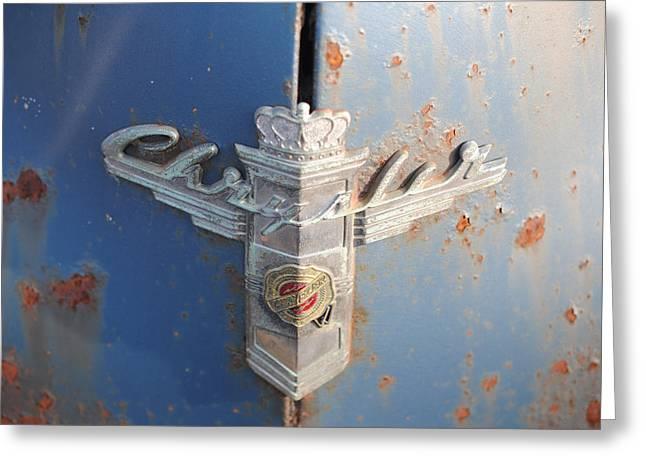 48 Chrysler Hood Emblem Greeting Card by Gordon H Rohrbaugh Jr