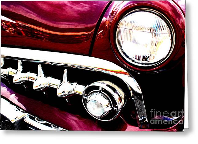 Greeting Card featuring the digital art 49 Ford by Tony Cooper