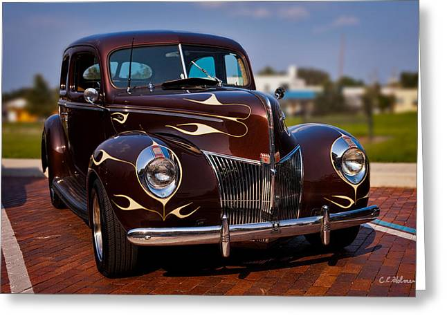 '49 Ford Two Door Sedan Greeting Card by Christopher Holmes