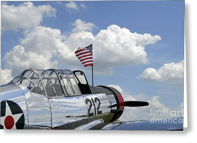 A Bt-13 Valiant Trainer Aircraft Greeting Card