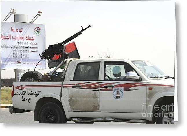 A Free Libyan Army Pickup Truck Greeting Card