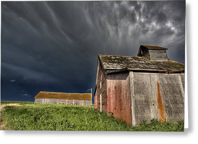 Abandoned Farm Greeting Card by Mark Duffy