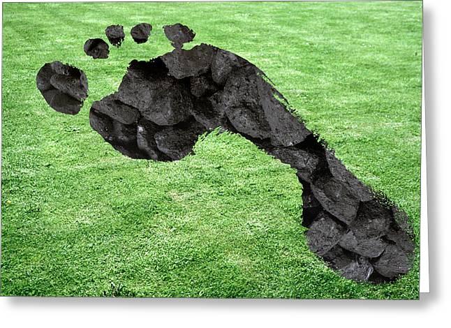 Carbon Footprint, Conceptual Image Greeting Card