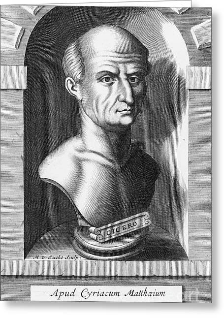 Cicero, Roman Philosopher Greeting Card by Photo Researchers