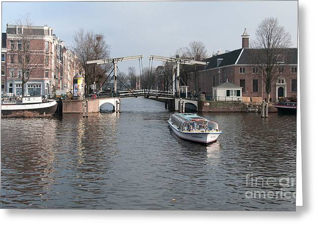 City Scenes From Amsterdam Greeting Card by Carol Ailles
