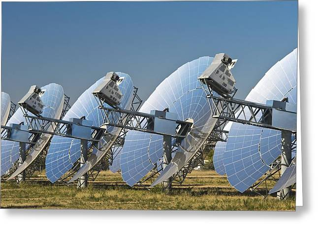 Concentrating Solar Power Plant Greeting Card by David Nunuk