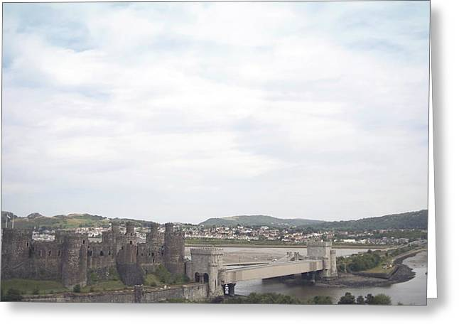 Conwy Castle Greeting Card by Christopher Rowlands