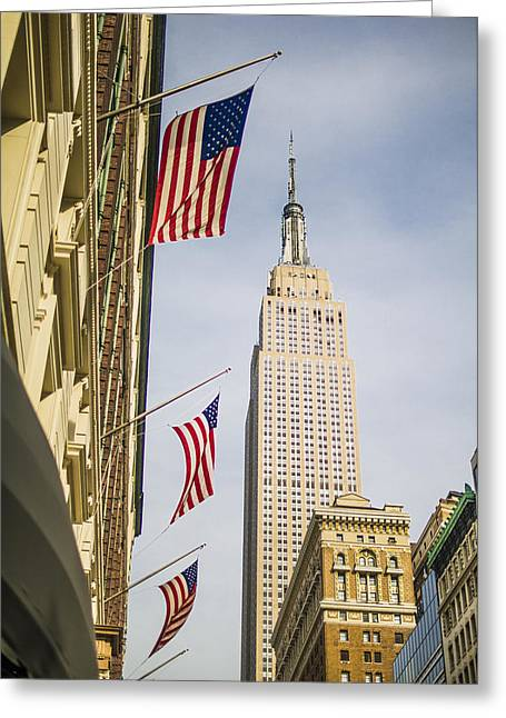 Greeting Card featuring the photograph Empire State Building by Theodore Jones