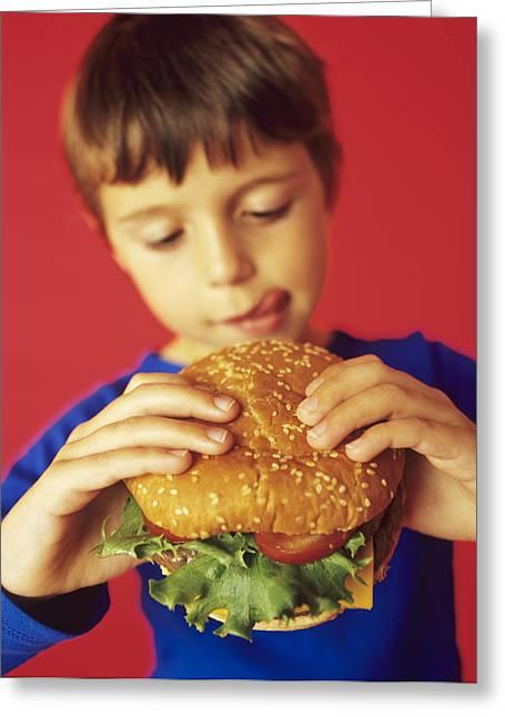 Fast Food Greeting Card by Ian Boddy
