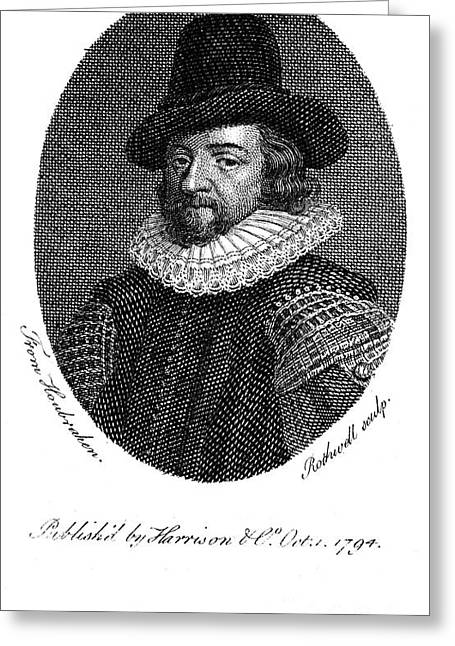 Francis Bacon (1561-1626) Greeting Card by Granger