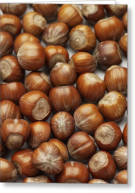 Hazelnuts Greeting Card by Jon Stokes