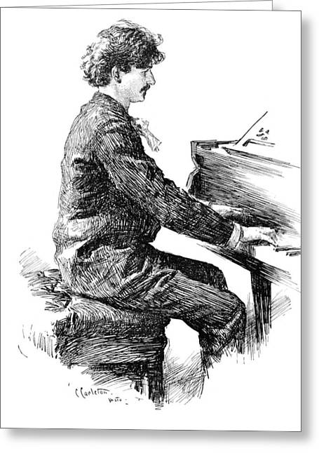 Ignace Jan Paderewski Greeting Card by Granger