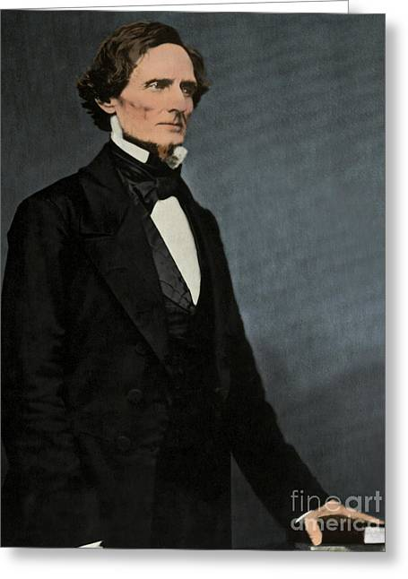 Jefferson Davis, President Greeting Card by Photo Researchers