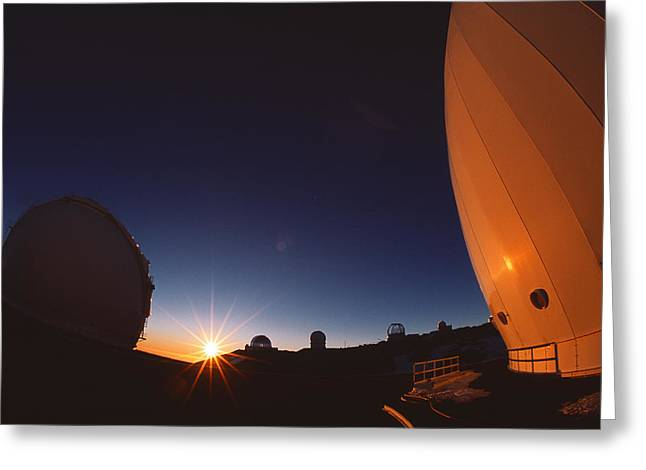 Keck I And II Observatories On Mauna Kea, Hawaii Greeting Card