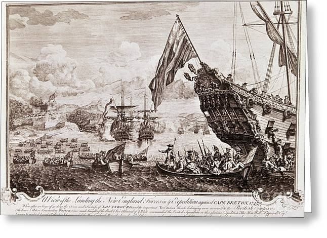 King Georges War, 1745 Greeting Card by Granger