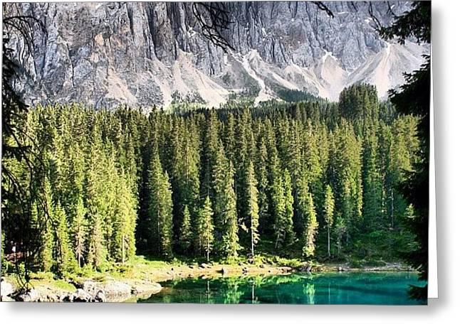 Lake Of Carezza Greeting Card